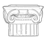 Chapiteau ionique à quatre faces