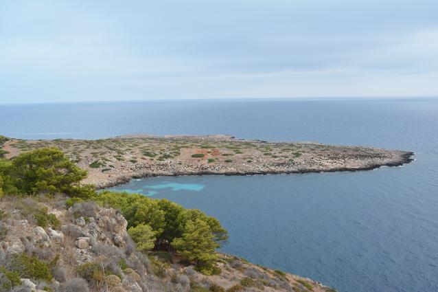 Levanzo, vue du site de Cala Minnola